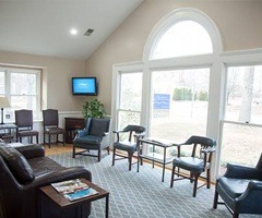 Cozy dental waiting room