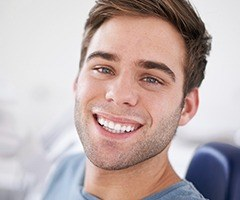 Man with flawless attractive smile