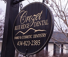 Crozet Blue Ridge Dental sign