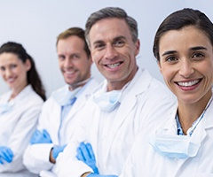 A team of dental professionals