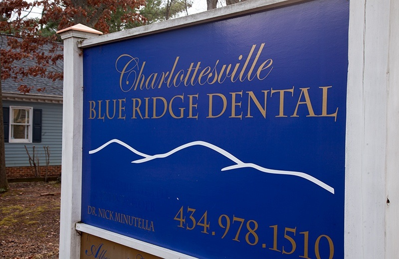 Charlottesville Blue Ridge Dental sign