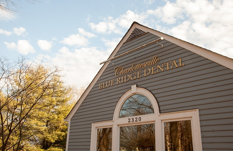 Charlottesville Blue Ridge Dental Logo on building